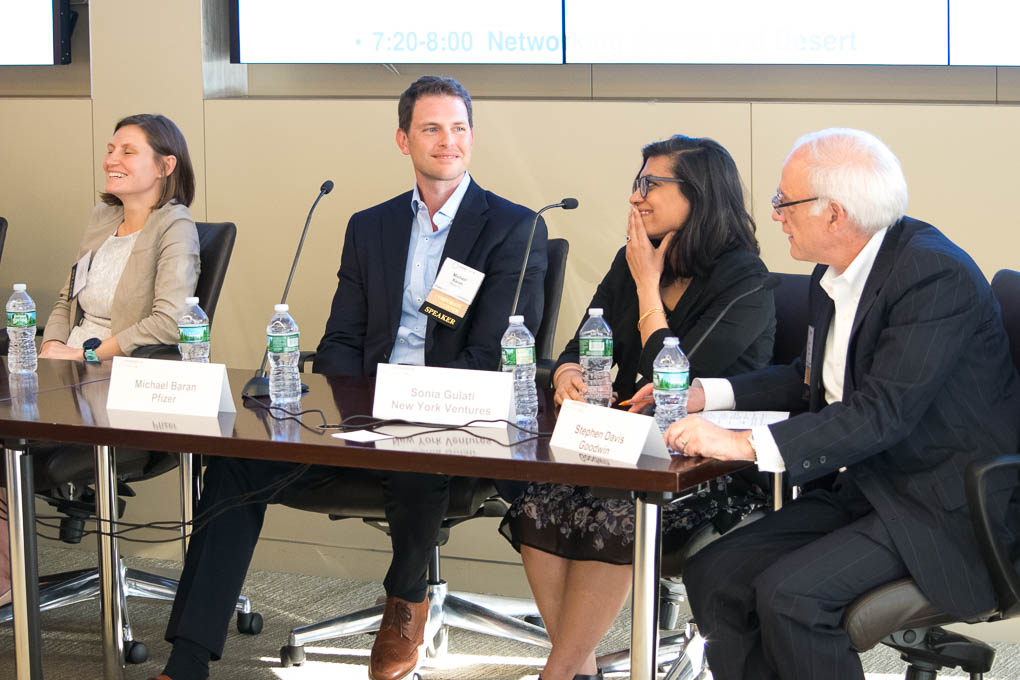 Mike Baran, Pfizer, Sonia Gulati, New York Ventures, Steve Davis, Goodwin