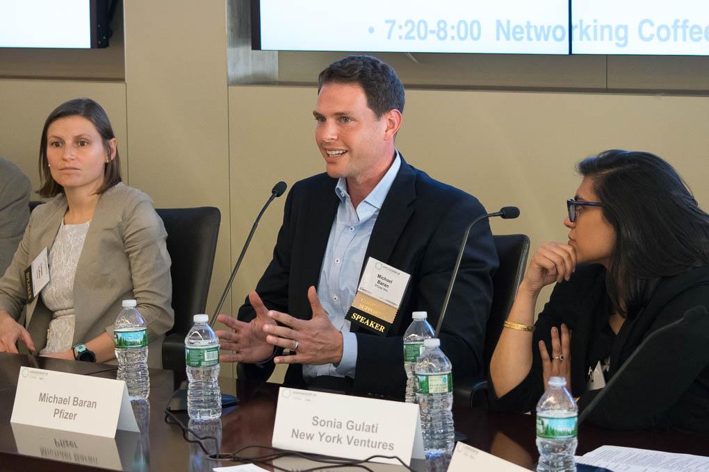 Mike Baran, Pfizer, Sonia Gulati, New York Ventures, Steve Davis, Goodwin Procter
