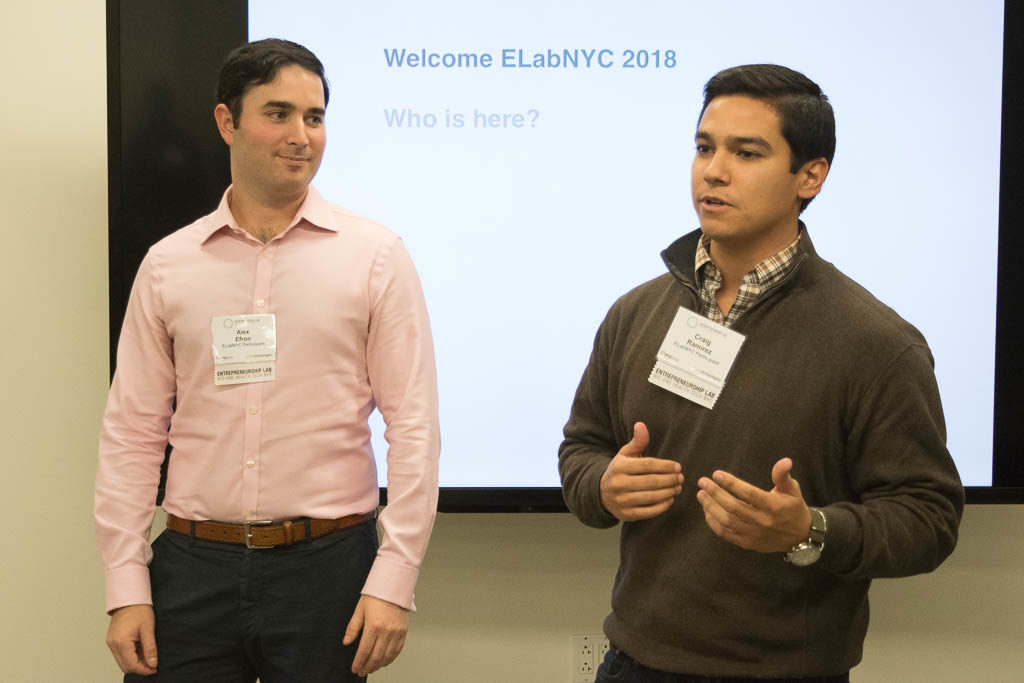 Alexander Efron and Craig Ramirez, New York University