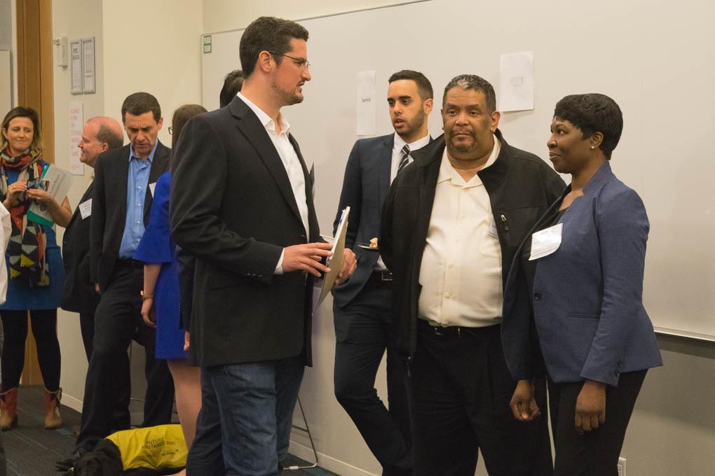 Travis Kahn, ELabNYC Coach, and Michelle Roberts, Global Dynamics Technology