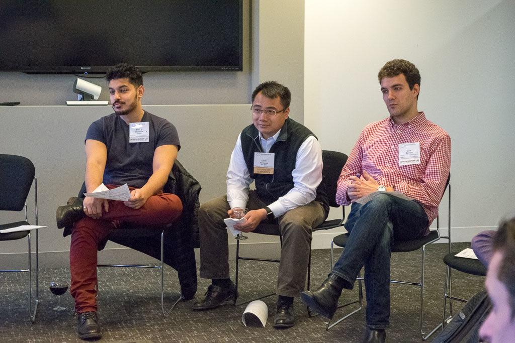 Bishoy Ghobryal, Veripad; Carlo Yuvienco, NYCEDC; Luis Santos, Ardent