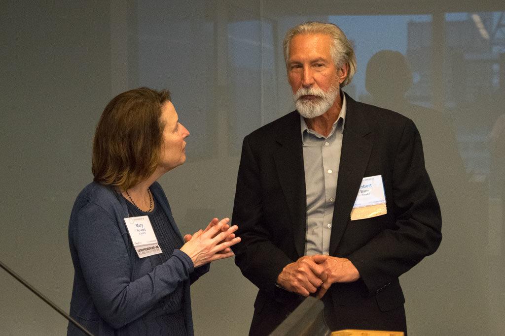 Mary Howard, Program, ELabNYC; Robert Barry, Kaneka