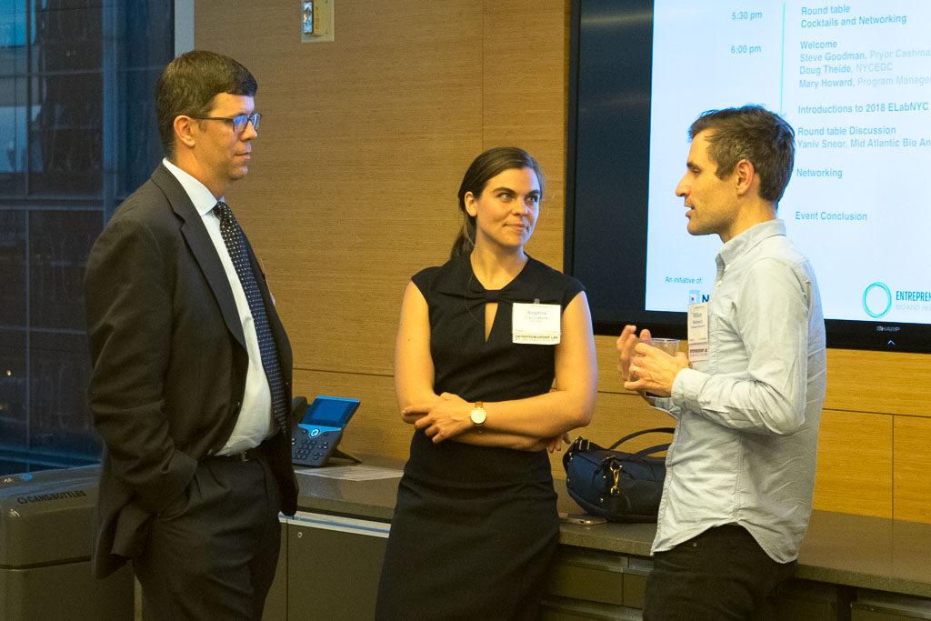 Doug Thiede, NYCEDC; Sophia Cacciatore, NYCEDC; William Walkowicz, Chemitope Glycopeptide