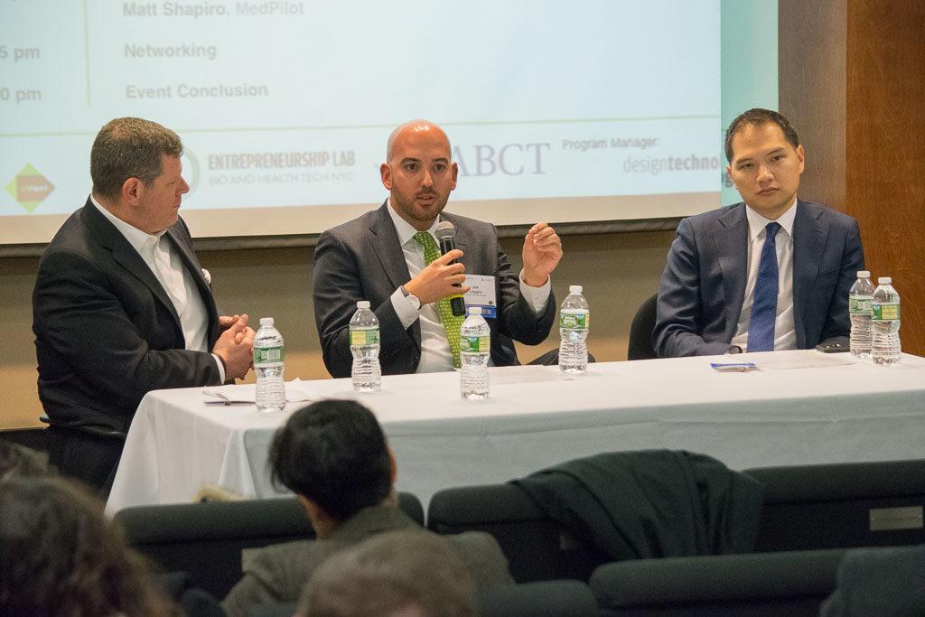 Mike Berger, Mount Sinai Health System, Joe Leggio, Northwell Health, and David Tsay, Columbia Presbyterian