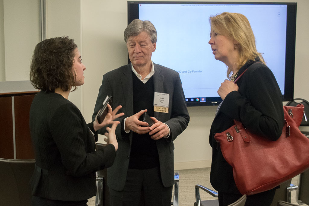 Eleanor Haglund, Halo Mountain; Robert Knowles, Pfizer; Cyndi Green, Pfizer