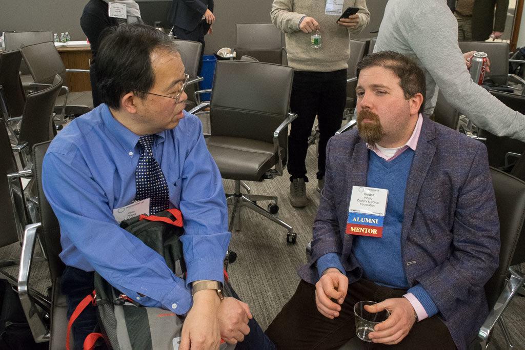 Peilin Zhang, PZM Diagnostics; Gerald Honig, Crohn's & Colitis Foundation