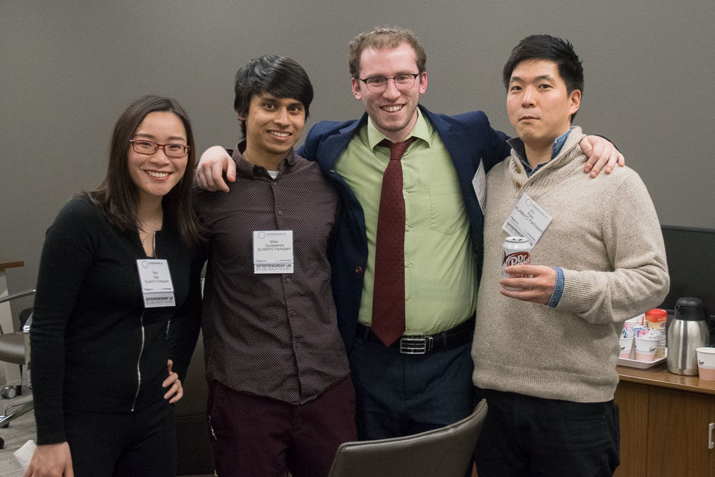 Nan Xiao, AdviceCoach; Milan Gunasekera, MyophonX; Yair Saperstein and PK Park, AvoMD