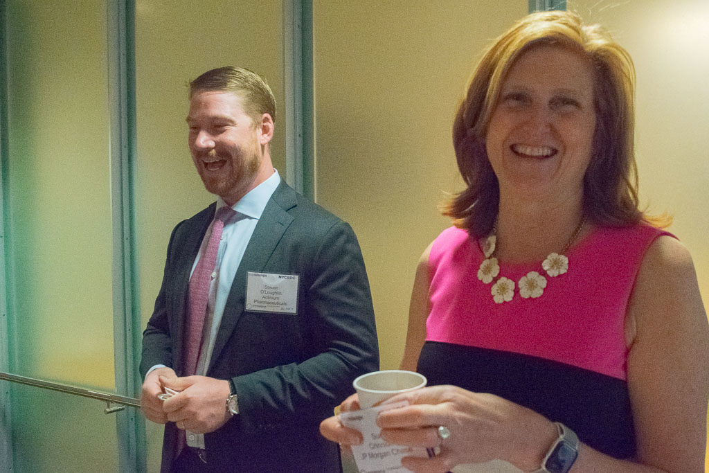 Steve O'Loughlin, Actinium Pharmaceuticals and Sue Crinnion, JP Morgan Chase