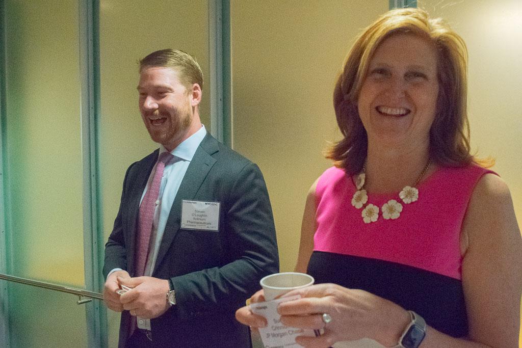 Steve O'Loughlin, Actinium Pharmaceuticals and Sue Crinnion, JP Morgan Chase