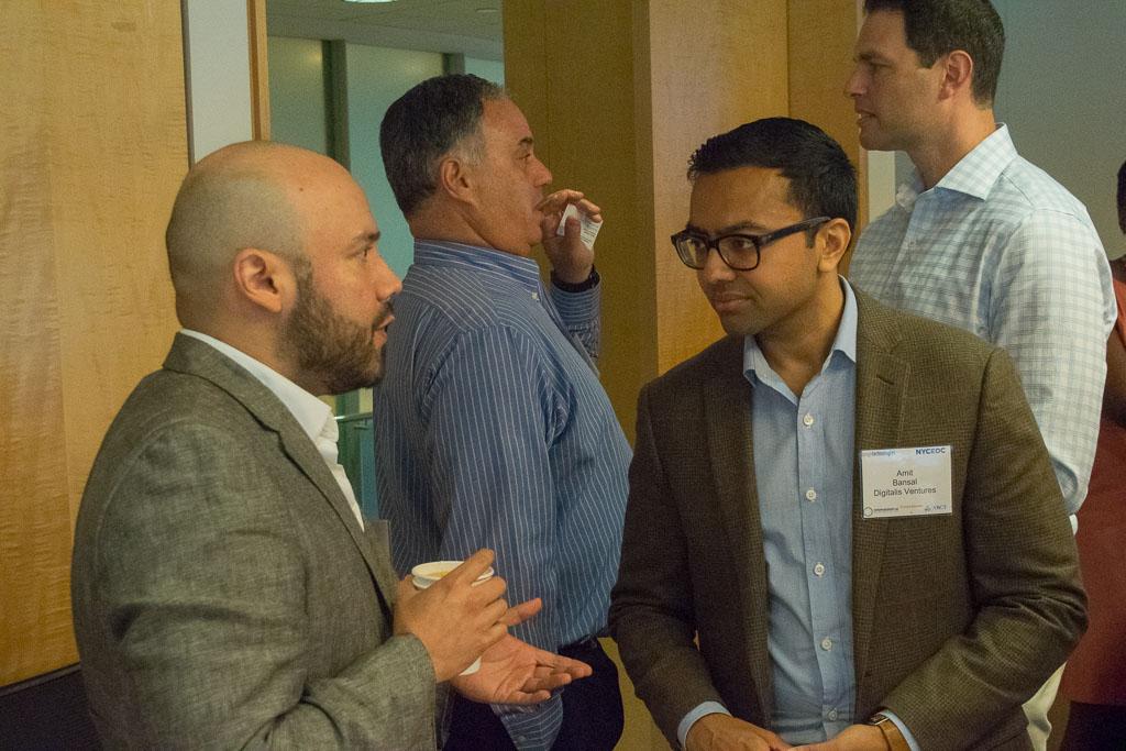 Raymond Alvarez, Ichor Biologics, Amit Bansal,  and Amit Bansal, Digitalis Ventures and Bruce Nemlich, Nemlich BioPharm and Michael Baran, Pfizer Ventures