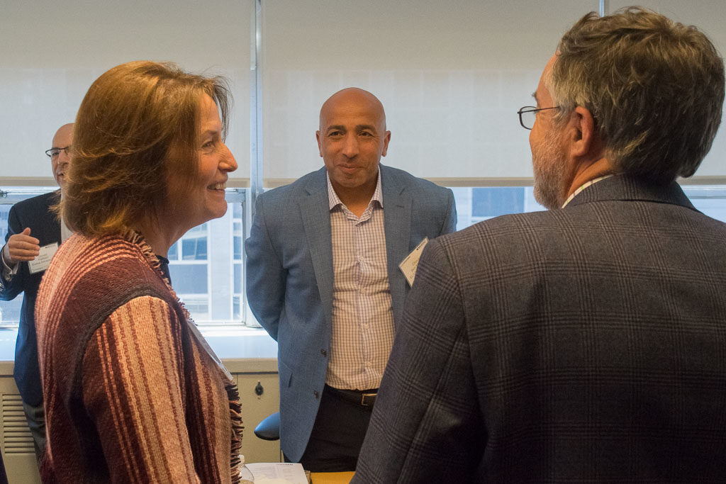 Mary Howard, ElabNYC Program Director, Chouckri Ben Mamoun, eliv5therapeutics and John Pennett, EisnerAmper