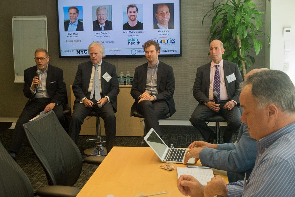 Panel #7: Entrepreneur to professionally managed firm with Alan Wink, EisnerAmper, , John Bradley, Torreya Partners, Matt McCambridge, Eden Health and Alan Shaw, Sirnaomics