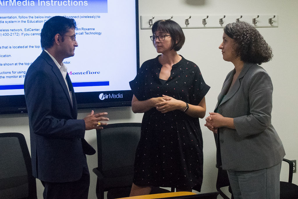 Sunit Juriwala, ASTHMAXcel, Karolyn Chamberlin, ELabNYC Head of mentorship and Janis Paradiso, Einstein Director, Office of Biotechnology and Business Development