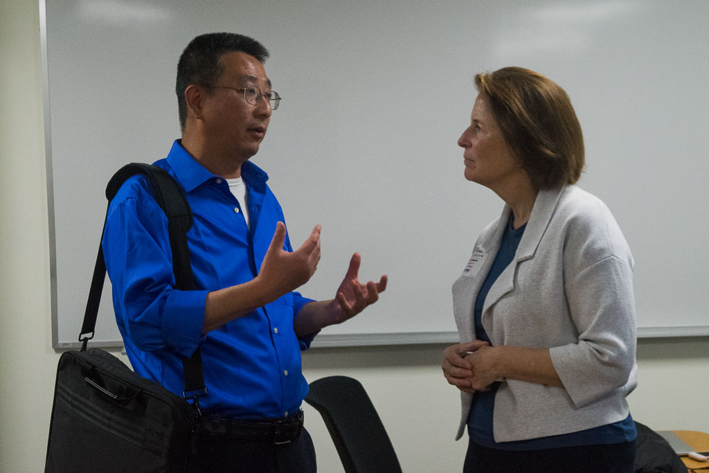 Dong Zhang, Einstein associate professor and Mary Howard, ELabNYC program director