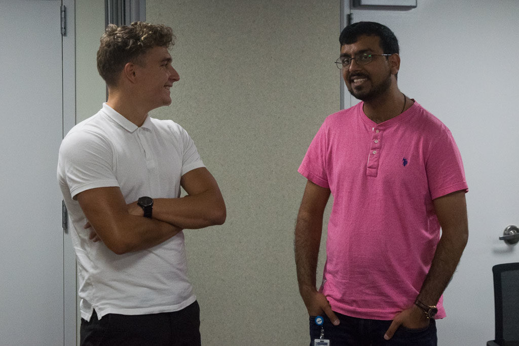 Jeremy Despringre, ELabNYC coordinator and Aakash Mahant, EBC president