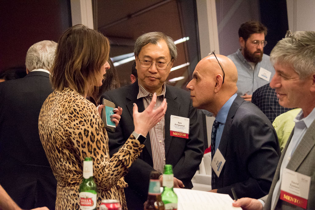 Christina Segro, Brown Rudnick; Sam Kongsamut, Institute for Life Science Entrepreneurship, and Parsa Mirhaji, Cognome