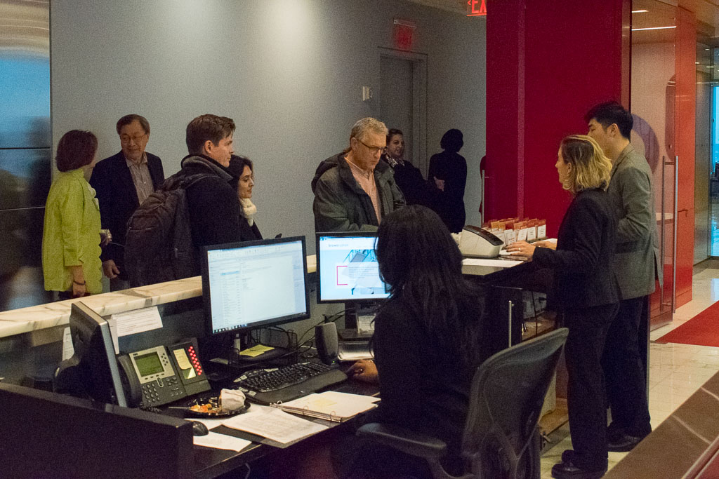 Orientation Check-In at Brown Rudnick