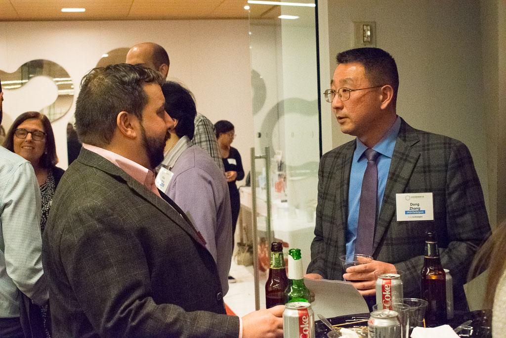 Peter Shapiro, GlobalData; Dong Zhang, ELabNYC 2020 Participant