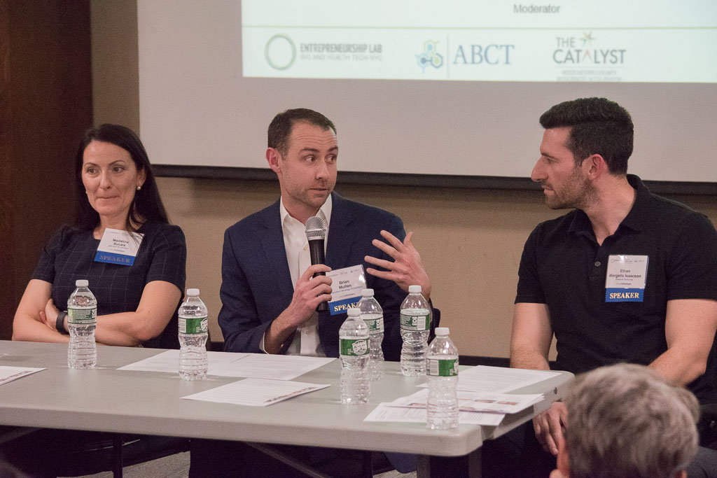 Madalina Sucula, Johnson & Johnson; Brian Mullen, Innovation Strategy Manager; Ethan Wergelis-Isaacson, DreamIt Ventures